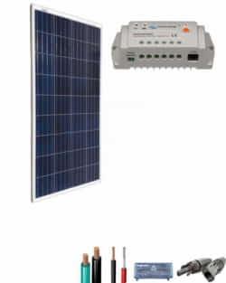 Kit Solar para Caravanas 12V 750Whdia  con regulador de 10A