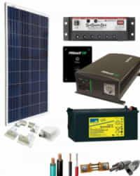 Kit Solar para Caravanas 1400W 12V 1000Whdia