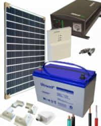 Kit Solar para Caravanas 700W 12V 1000Whdia  con batería AGM