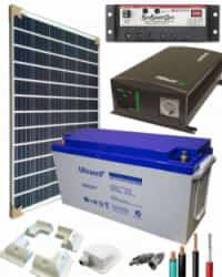 Kit Solar para Caravanas 700W 12V 1000Whdia  con Batería de Gel