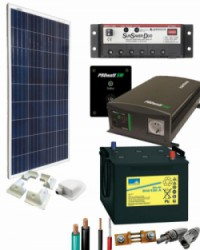 Kit Solar para Caravanas 700W 12V 750Whdia  con Batería de Gel