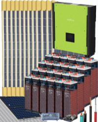 Kit Solar Trifásico 10000W 48V 72000Whdia