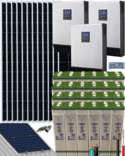 Kit Solar Trifásico 15000W 48V 57600Whdia