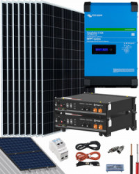 Kit Solar Victron 3000W 48V 16000Whdia