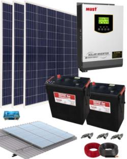 Kit Solar Vivienda Aislada 1000W 12V 3000Whdia