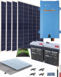 Kit Solar Vivienda Aislada 1600W 12V 4000Whdia