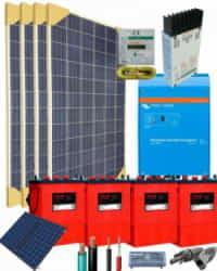 Kit Solar Vivienda Aislada 2000W 24V 6100Whdia
