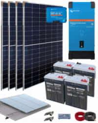 Kit Solar Vivienda Aislada 2000W 24V 6400Whdia