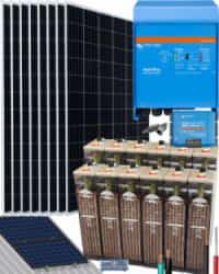 Kit Solar Vivienda Aislada 3000W 24V 16000Whdia