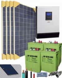 Kit Solar Vivienda Aislada 3000W 24V 6100Whdia