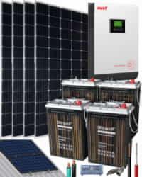 Kit Solar Vivienda Aislada 3000W 24V 7400Whdia
