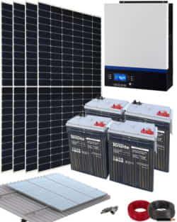 Kit Solar Vivienda Aislada 3000W 24V 8000Whdia