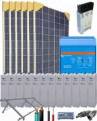 Kit Solar Vivienda Aislada 3000W 24V 9150Whdia