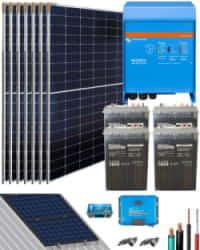 Kit Solar Vivienda Aislada 3000W 24V 9600Whdia