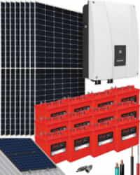 Kit Solar Vivienda Aislada 3000W 72V 17600Whdia