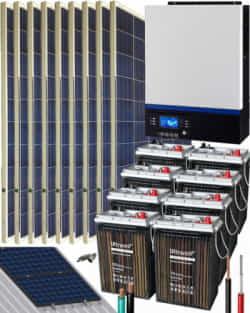 Kit Solar Vivienda Aislada 5000W 48V 12150Whdia
