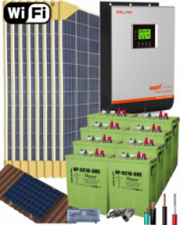 Kit Solar Vivienda Aislada 5000W 48V 12800Whdia