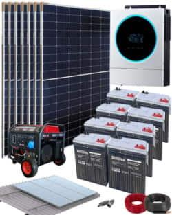 Kit Solar Vivienda Aislada 5000W 48V 14000Whdia