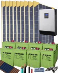 Kit Solar Vivienda Aislada 5000W 48V 15250Whdia