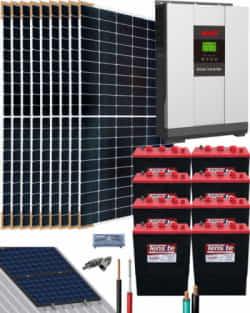 Kit Solar Vivienda Aislada 5000W 48V 16000Whdia