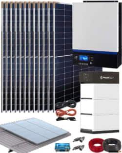 Kit Solar Vivienda Aislada 5000W 48V 18000Whdia