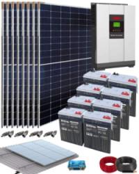 Kit Solar Vivienda Aislada 5000W 48V 18500Whdia