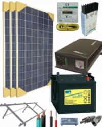 Kit Solar Vivienda Aislada 700W 12V 2250Whdia