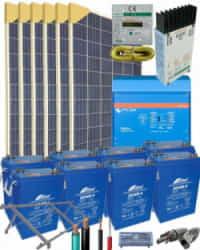 Kit Solar Vivienda Aislada 8000W 24V 22400Whdia