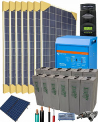 Kit Solar Vivienda Permanente 10000W 24V 25600Whdia