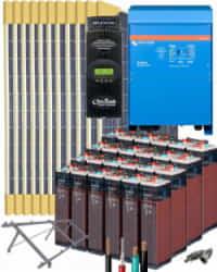 Kit Solar Vivienda Permanente 10000W 48V 25600Whdia con batería OPzS