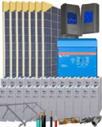 Kit Solar Vivienda Permanente 10000W 48V 30500Whdia  con Batería de Gel