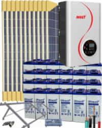 Kit Solar Vivienda Permanente 10000W 48V 32000Whdia  con Batería de Gel