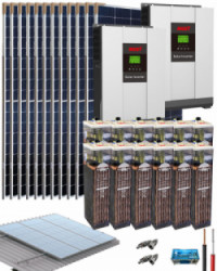 Kit Solar Vivienda Permanente 10000W 48V 32000Whdia con batería OPzS