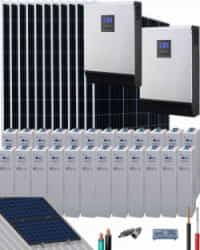 Kit Solar Vivienda Permanente 10000W 48V 48000Whdia