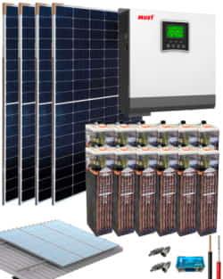 Kit Solar Vivienda Permanente 3000W 24V 9000Whdia