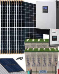 Kit Solar Vivienda Permanente 5000W 24V 19200Whdia