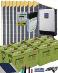 Kit Solar Vivienda Permanente 5000W 24V 24000Whdia