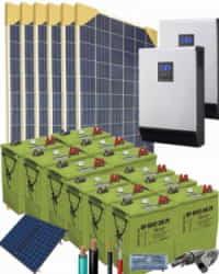 Kit Solar Vivienda Permanente 5000W 24V 45750Whdia
