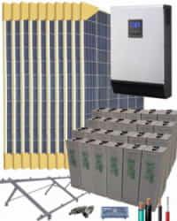 Kit Solar Vivienda Permanente 5000W 48V 18300Whdia