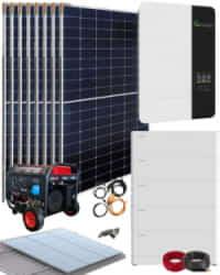 Kit Solar Vivienda Permanente 5000W 48V 18500Whdia