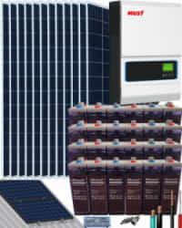 Kit Solar Vivienda Permanente 5000W 48V 19200Whdia