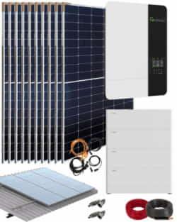 Kit Solar Vivienda Permanente 5000W 48V 20000Whdia