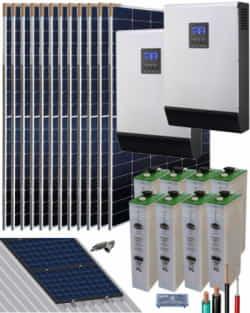 Kit Solar Vivienda Unifamiliar 10000W 48V 25600Whdia