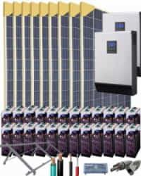 Kit Solar Vivienda Unifamiliar 10000W 48V 30500Whdia