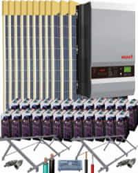 Kit Solar Vivienda Unifamiliar 10000W 48V 32000Whdia