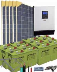 Kit Solar Vivienda Unifamiliar 3000W 24V 7625Whdia