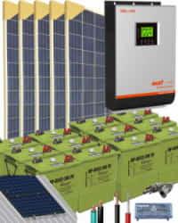Kit Solar Vivienda Unifamiliar 3000W 24V 8000Whdia