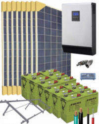Kit Solar Vivienda Unifamiliar 5000W 24V 12200Whdia