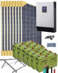 Kit Solar Vivienda Unifamiliar 5000W 24V 12800Whdia