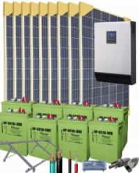 Kit Solar Vivienda Unifamiliar 5000W 48V 12200Whdia